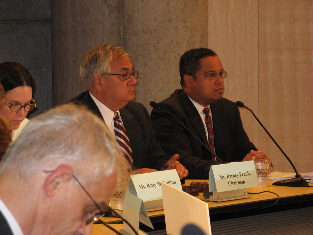 Former congressman Barney Frank at a 2007 field hearing on home foreclosures (Wikimedia Commons)