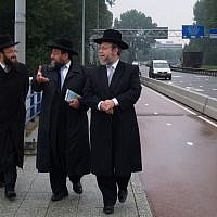 Illustrative: Dutch rabbis in the Amsterdam suburb of Buitenveldert. (David Serphos/JTA)