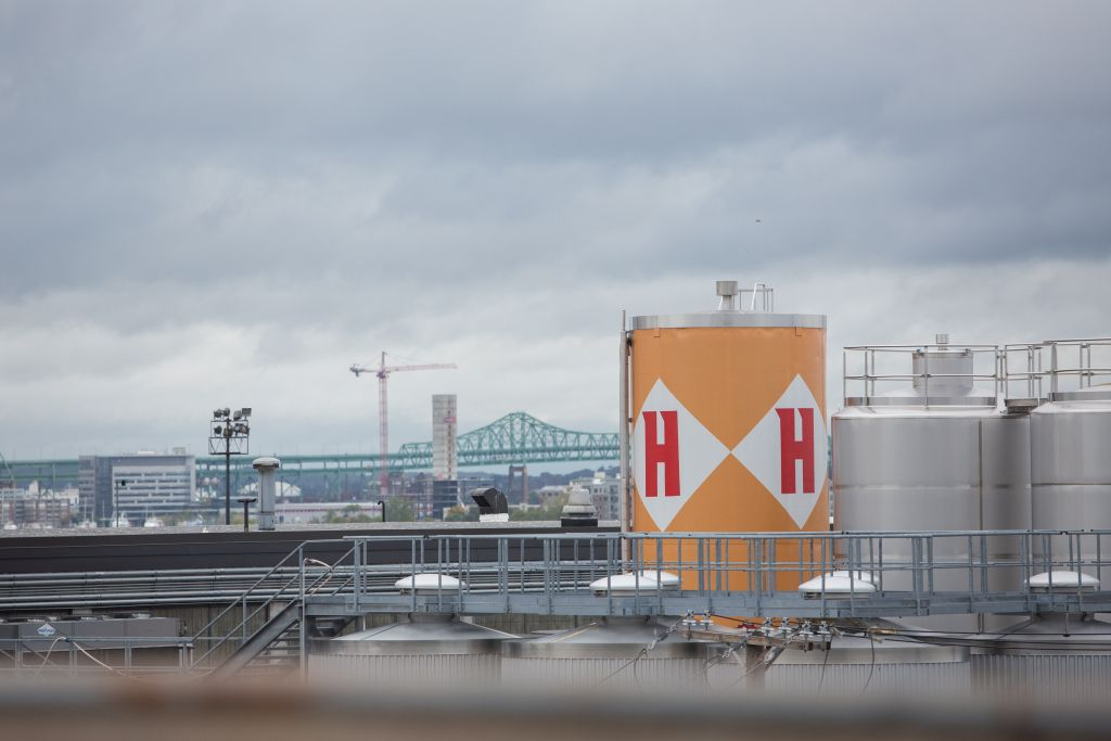 Located on Boston's waterfront, Harpoon Brewery partnered with the Israeli-founded Desalitech to create a pale ale from treated Charles River water. The beer was first put on tap at Harpoon's facility on September 30, 2015. (Elan Kawesch/The Times of Israel)