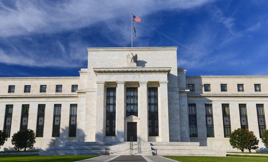(U.S Federal Reserve headquarters in Washington, D.C. image via Shutterstock)