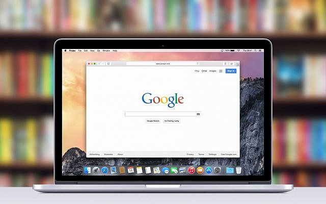 Illustrative photo of Google's homepage. (Alexey Boldin image via Shutterstock)