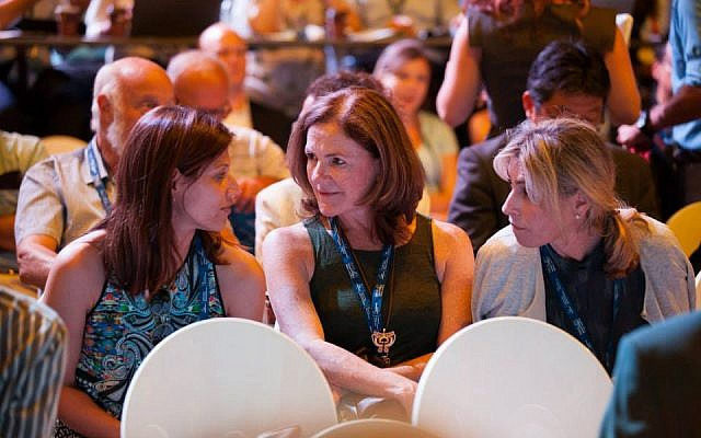 Sela says conferences are a great way to obtain fresh information. A scene from the Herzliya Conference, June 2015 (Photo credit: Facebook)