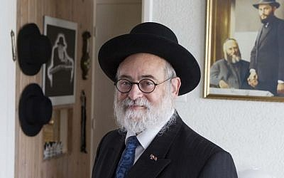 Dutch Chief Rabbi Binyomin Jacobs opposes the housing of migrants from the Middle East in a heavily Jewish area of Amsterdam. (RD/A.Dommerholt/JTA)
