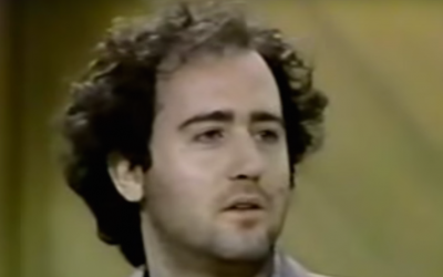 Andy Kaufman appearing on the 'Late Show With David Letterman' in 1980. (YouTube/JTA)