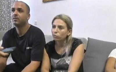 Liat Ohana after fighting a terrorist in Kiryat Gat on October 7, 2015. (Screen capture: Ynet)