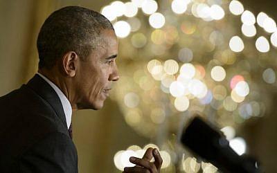 US President Barack Obama attends a press conference at the White House in Washington, DC, October 16, 2015. (AFP/Brendan Smialowski)