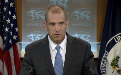 State Department Deputy Spokesman Marc Toner (screen capture: State Department)