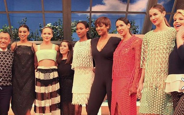 Danit Peleg (the short one in the middle) with the models and hosts of FABLife (Courtesy FABLife)