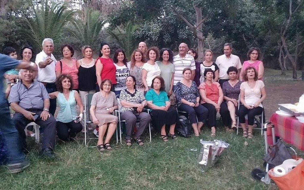 The Golpayegan reunion group poses in Israel's National Park in Ramat Gan. (Courtesy)