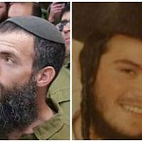 The victims of a fatal stabbing attack in Jerusalem on Saturday October 3, 2015: Nehemia Lavi, 41 (left) from Jerusalem, and Aharon Banita (Bennett), 22 (right) from Beitar Illit. (Courtesy)
