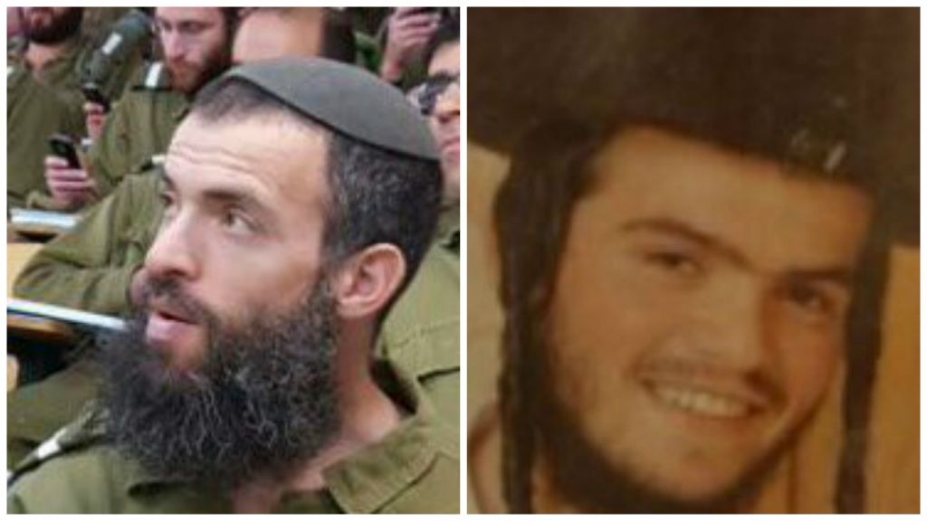 The victims of a fatal stabbing attack in Jerusalem on Saturday October 3, 2015: Nehemia Lavi, 41 (left) from Jerusalem, and Aharon Banita, 22 (right) from Beitar Illit. (Courtesy)