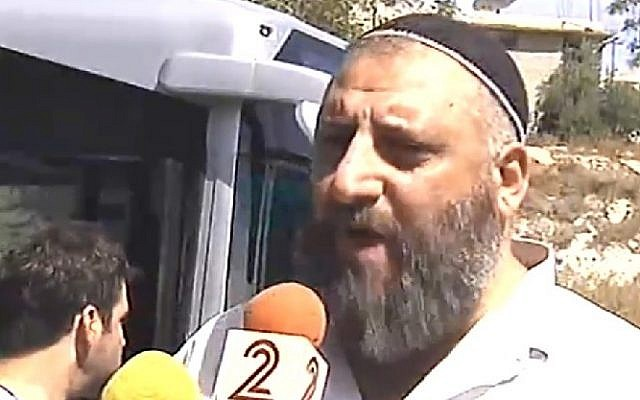 Golan Cohen Gabbai, witnessed the terror attack on October 13, 2015 in Jerusalem's Armon Hanatziv neighborhood in which two terrorists boarded a bus and began a combined shooting and stabbing attack, killing two Israelis and injuring several. (Screenshot/Channel 2)