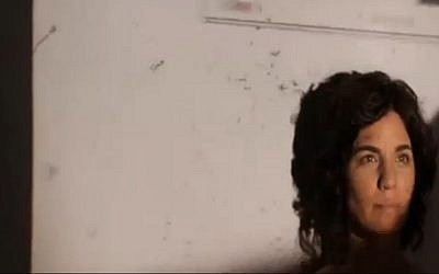 MK Tamar Zandberg (Meretz) in a clip shot to raise awareness of incitement on social media. (Screen capture Channel 2)
