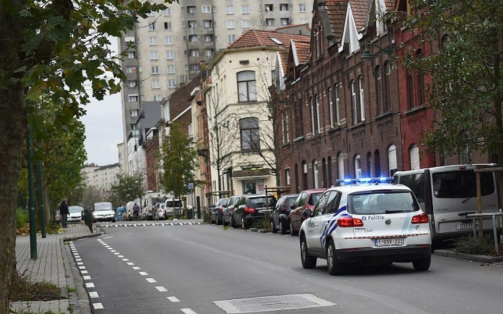 Illustrative photo of a police car in Brussels' Molenbeek district, on November 15, 2015. (AFP/Emmanuel Dunand)