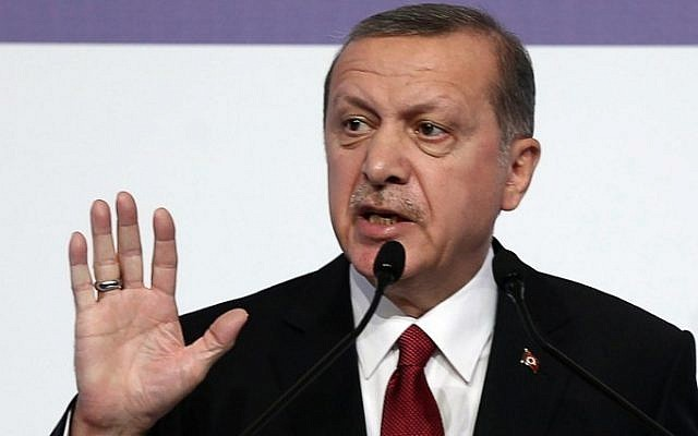 Turkish President Recep Tayyip Erdogan at the G20 Summit in Antalya, Turkey, on November 16, 2015. (Adem Altan/AFP)