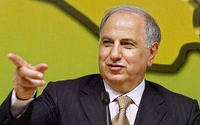 A file picture taken on March 24, 2004, shows Ahmed Chalabi, a key lobbyist for the American invasion of Iraq, speaking at a press conference in the Iraqi capital Baghdad. (Nicolas Asfouri/AFP)