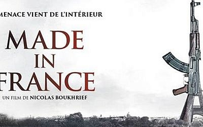 A poster for the film Made in France. The film's screening was cancelled following the November 13 attacks. Its plot deals with Jihadists planning terror attacks in Paris. (Screen capture)