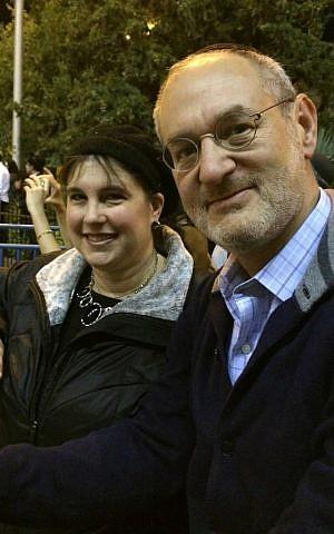 Suri and David Alter of Lawrence, New York attend wedding of Sarah Techiya Litman and Ariel Biegel. Jerusalem, November 26, 2015. (Renee Ghert-Zand?TOI)