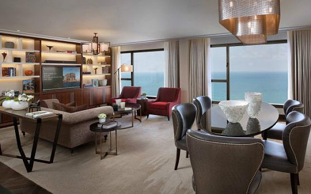 The $3,500 a night suite at the David Intercontinental, where Madge and Mick have both laid their heads (Courtesy David Intercontinental)