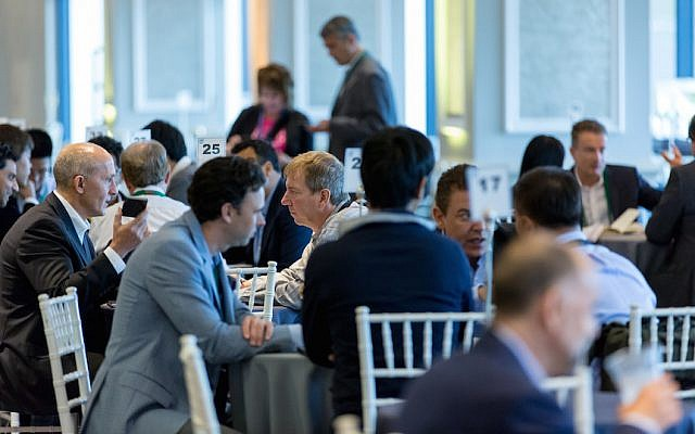 Networking at the Intel Capital Global Summit, Nov 3, 2015 (Courtesy)