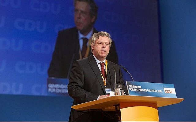 Germany's Christian Democratic Union's foreign policy spokesman Jurgen Hardt speaks at a party convention  on November 15,  2010. ( CC BY-SA Wikimedia commons)
