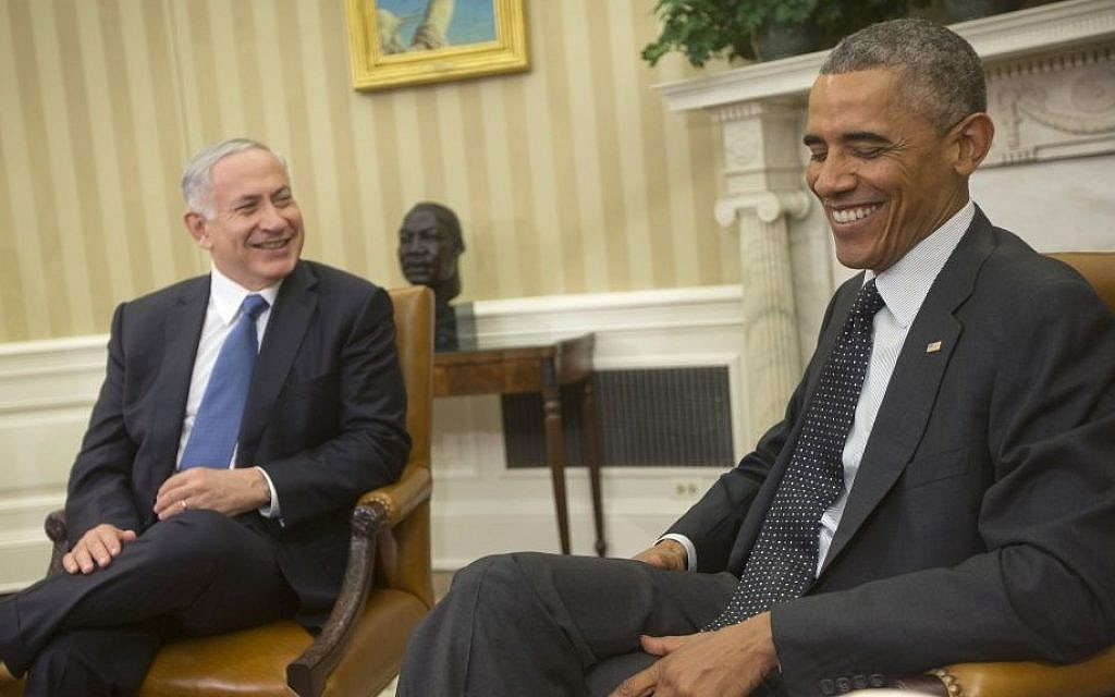 President Barack Obama meets with Prime Minister Benjamin Netanyahu in the Oval Office of the White House in Washington, DC on Wednesday, October 1, 2014. (AP Photo/Pablo Martinez Monsivais)