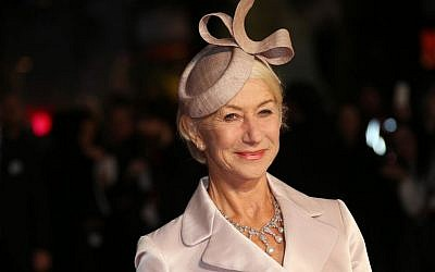 Actress Helen Mirren sports a fascinator at the premiere of the film Trumbo, as part of the London film festival in London, Thursday, Oct. 8, 2015. (Photo by Joel Ryan/Invision/AP)