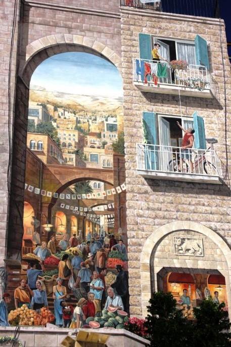Mural on Agrippas Street (Shmuel Bar-Am)
