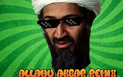 "Art from the video from ""Allahu Akbar"" by DJ Inappropriate, a dance track that has gone viral on the music sharing site Spotify. (Screenshot from YouTube)"