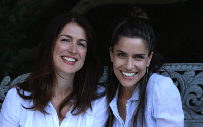 Andrea Troyer, left, and Amanda Peet. (Kveller/JTA)
