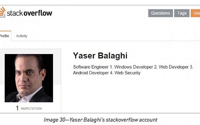 Yaser Balaghi, whom Checkpoint pinned as a leader of the Rocket Kitten hacker gang (Checkpoint)