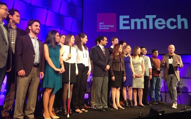 The 35 Innovators under 35 chosen by MIT for 2015 receive their awards at a special ceremony at EmTech, Nov 4, 2015 (Courtesy MIT Technology Review)