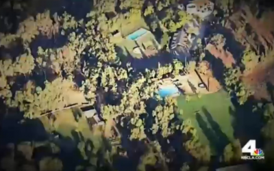 An aerial view of the Brandeis-Bardin Campus, including Camp Alonim, near Los Angeles, California. (screen capture: NBC4)