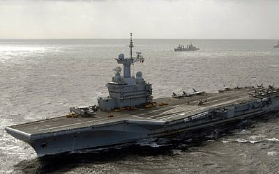 The French aircraft carrier Charles de Gaulle seen on January 1, 2009. (Public Domain/Wikipedia)