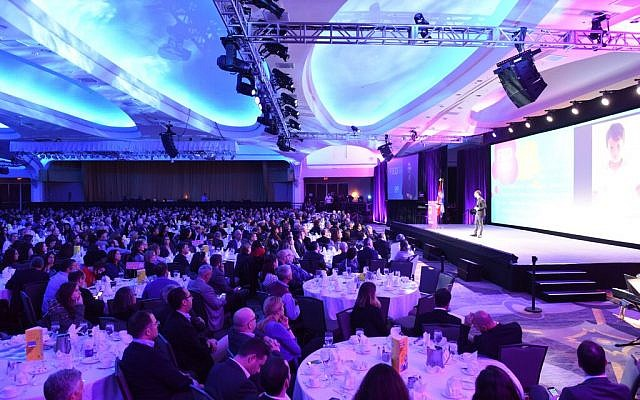 A view of the crowd at the Jewish Federations of North America General Assembly, November 10, 2015. (JTA)