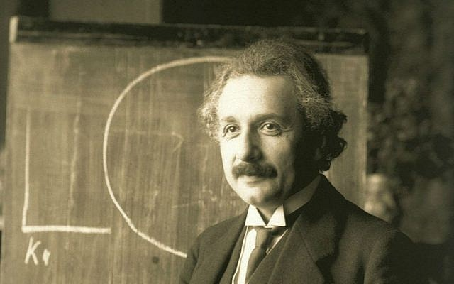 Albert Einstein, during a lecture in Vienna in 1921. (Wikipedia/public domain)