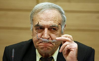 Former Knesset member Said Nafa attends a discussion in the Knesset, January 26, 2010. (Abir Sultan/Flash90)