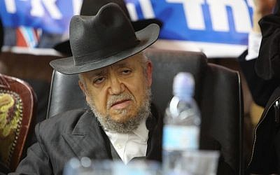 Rabbi Meir Mazuz attends a press conference of the Yachad political party in Bnei Brak, December 25, 2014. (Photo by Yaakov Naumi/Flash90)