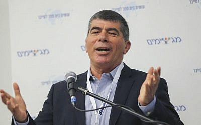 Former Israeli army's chief of staff lieutenant-general Gabi Ashkenazi speaks in Tel Aviv on March 24, 2015. (Flash90)