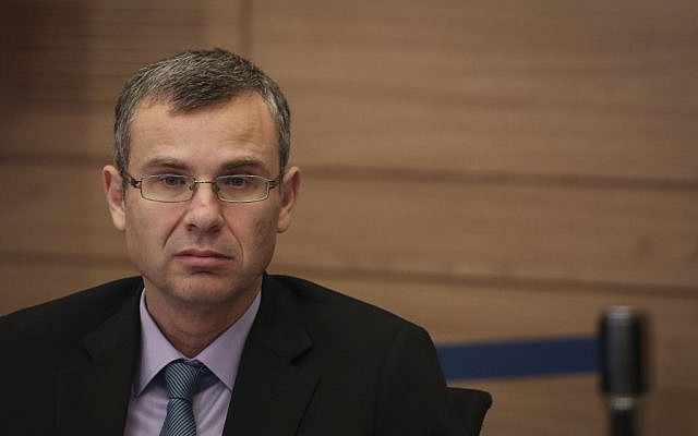Tourism Minister Yariv Levin in the Knesset on July 13, 2015 (Hadas Parush/Flash90)