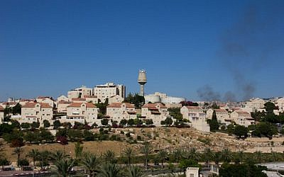 The West Bank settlement of Ma'ale Adumim, east of Jerusalem, July 29, 2015. (Garrett Mills/Flash 90)