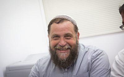Leader of the far-right Israeli group Lehava, Benzi Gopstein on August 11, 2015. (Miriam Alster/FLASH90)