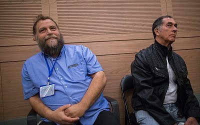 Lehava head Bentzi Gopstein seen during an Interior Affairs committee meeting in the Israeli parliament on November 10, 2015. (Yonatan Sindel/FLASH90)