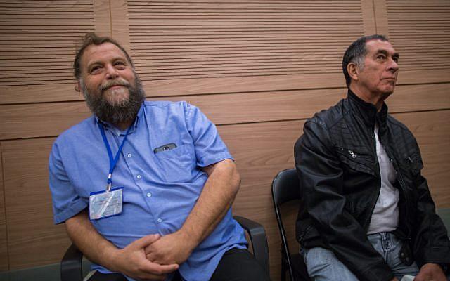 Lehava head Bentzi Gopstein seen during an Interior Affairs committee meeting in the Israeli parliament on November 10, 2015. (Yonatan Sindel/FLASH90)