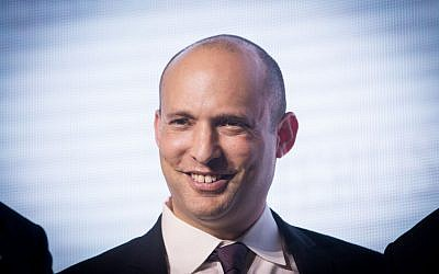 Education Minister Naftali Bennett, who leads the Jewish Home party, speaks at the Jerusalem Post Diplomatic Conference, Jerusalem. November 18, 2015. (Miriam Alster/Flash90)
