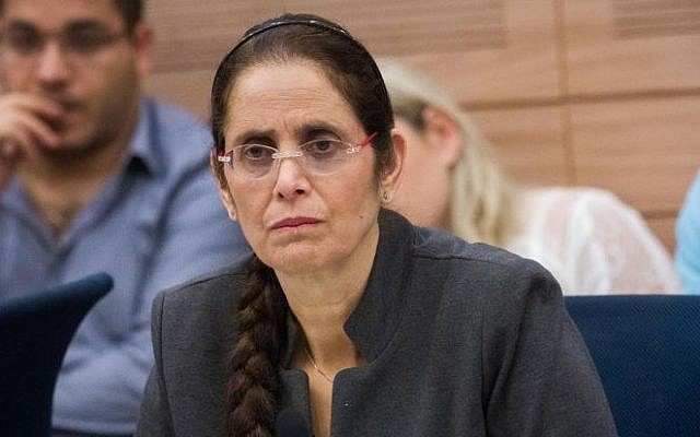 Likud MK Anat Berko attends a Foreign Affairs and Security committee meeting in the Knesset, November 19, 2015. (Miriam Alster/FLASH90)