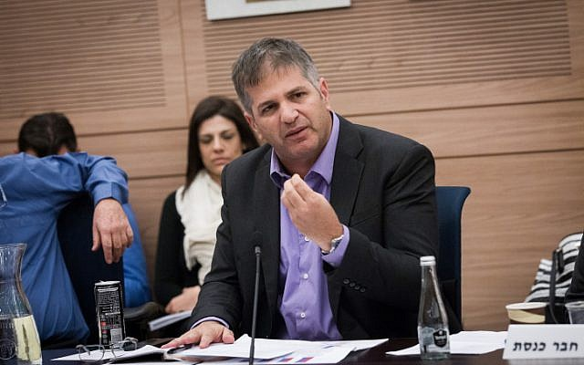 Likud MK Yoav Kisch attends a discussion at a Knesset Foreign Affairs and Defense Committee, November 19, 2015 (Miriam Alster/FLASH90)