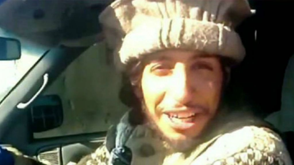 This undated image taken from a jihadist website on Monday Nov. 16, 2015 shows Abdelhamid Abaaoud, the suspected mastermind of the Paris terror attacks on November 13. (Jihadist video via AP)