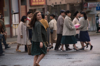"Juliana Crain (Alexa Davalos) in ""The Man in The High Castle."" (Courtesy of Amazon Studios)"