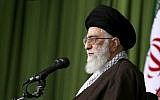 Iranian Supreme Leader Ayatollah Ali Khamenei speaking at a meeting in Tehran, November 1, 2015. (Office of the Iranian Supreme Leader via AP, File)
